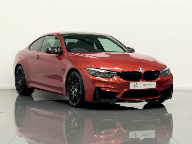 BMW M4 3.0 M4 2dr DCT [Competition Pack] Coupe Petrol Sakhir Orange at Phil Presswood Specialist Cars Brigg