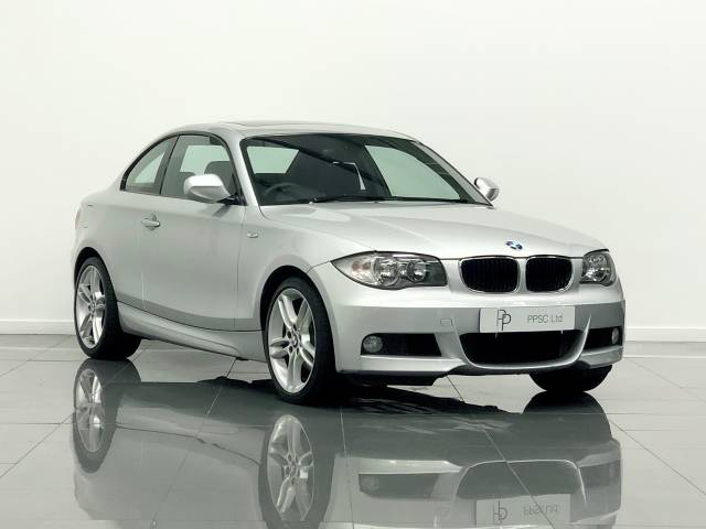 BMW 1 Series 3.0 125i M Sport 2dr Coupe Petrol Titanium Silver Metallic at Phil Presswood Specialist Cars Brigg
