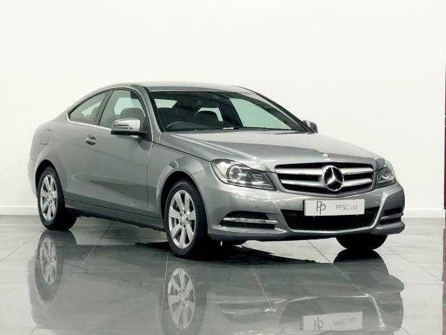 Mercedes-Benz C Class 2.1 C220 CDI Executive SE 2dr Coupe Diesel Silver at Phil Presswood Specialist Cars Brigg