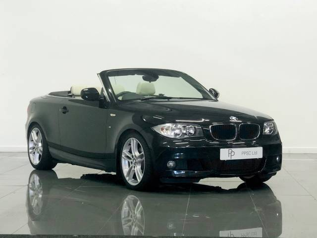BMW 1 Series 2.0 120i M Sport 2dr Step Auto Convertible Petrol Sapphire Black at Phil Presswood Specialist Cars Brigg