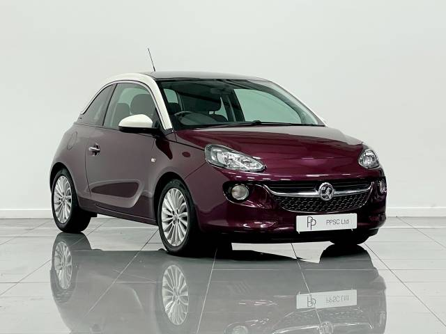 Vauxhall Adam 1.4i Glam 3dr Hatchback Petrol Purple Fiction Metallic at Phil Presswood Specialist Cars Brigg