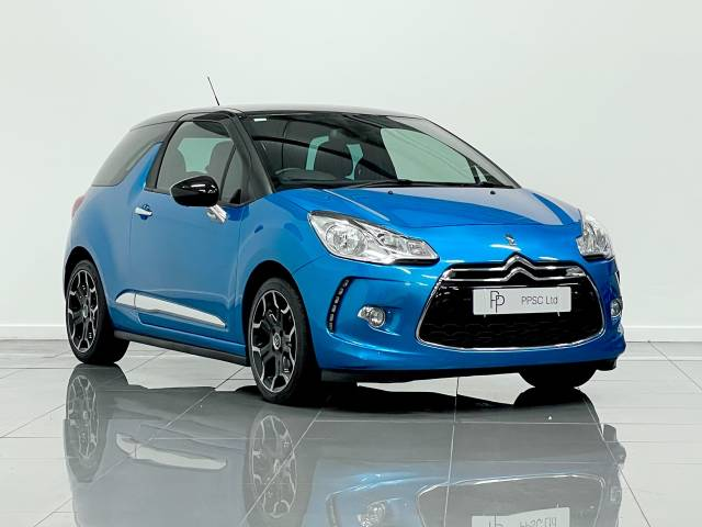 Citroen DS3 1.6 e-HDi Airdream DStyle Plus 3dr Hatchback Diesel Belle Lle Metallic Blue at Phil Presswood Specialist Cars Brigg