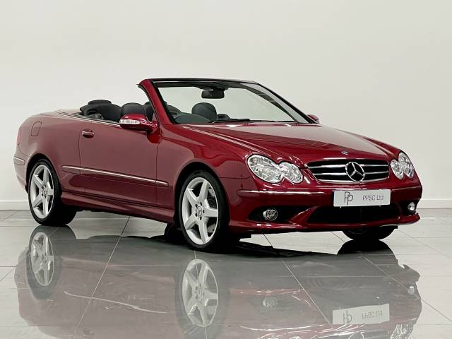 Mercedes-Benz CLK 3.0 280 Sport 2dr Tip Auto Convertible Petrol Thulite Red Metallic at Phil Presswood Specialist Cars Brigg