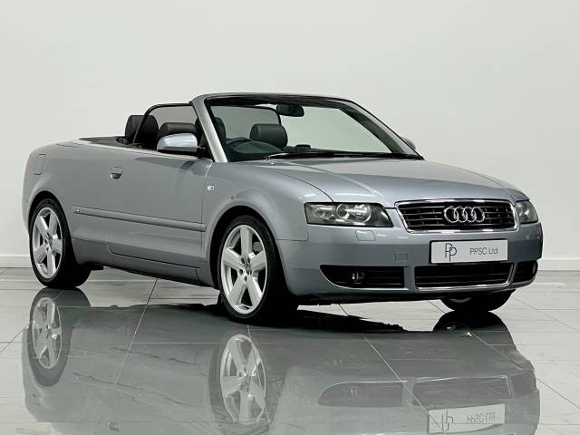 Audi A4 1.8T S Line 2dr Convertible Petrol Avus Silver at Phil Presswood Specialist Cars Brigg