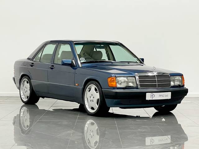 Mercedes-Benz 190 E 2.0 Automatic Saloon Petrol Metallic Blue at Phil Presswood Specialist Cars Brigg