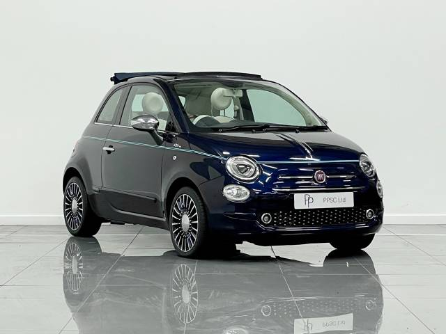 Fiat 500 0.9 TwinAir 105 Riva 2dr Convertible Petrol Metallic Blue at Phil Presswood Specialist Cars Brigg