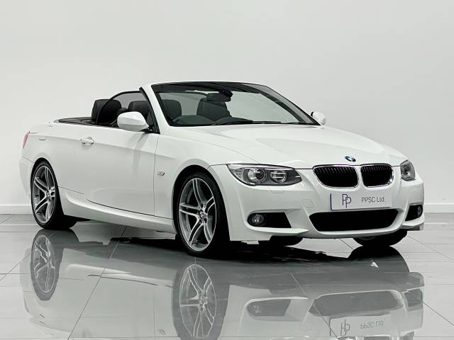 BMW 3 Series 2.0 320d M Sport 2dr Step Auto Convertible Diesel Alpine White at Phil Presswood Specialist Cars Brigg