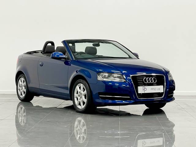 Audi A3 1.2 T FSI 2dr [Start Stop] Convertible Petrol Metallic Sapphire Blue at Phil Presswood Specialist Cars Brigg