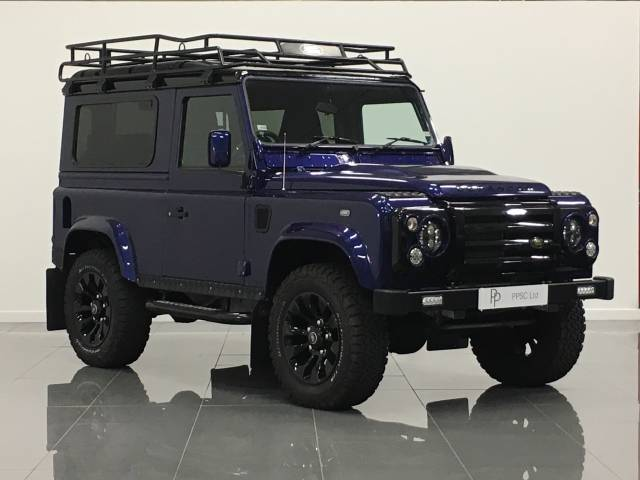 Land Rover Defender 90 SWB 2.5 DT Four Wheel Drive Diesel Metallic Blue at Phil Presswood Specialist Cars Brigg