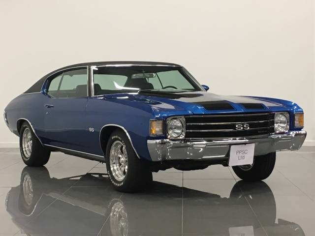 Chevrolet Chevy 5.7 Chevelle Coupe Petrol Metallic Hawaiian Blue at Phil Presswood Specialist Cars Brigg