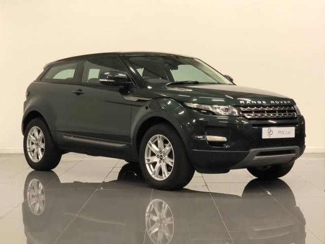 Land Rover Range Rover Evoque 2.2 TD4 Pure 3dr Coupe Diesel Green at Phil Presswood Specialist Cars Brigg
