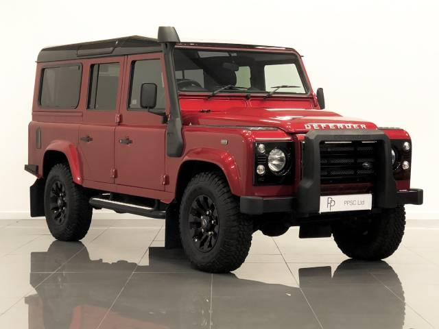Land Rover Defender XS Station Wagon TDCi [2.2] Four Wheel Drive Diesel Firenze Metallic Red at Phil Presswood Specialist Cars Brigg