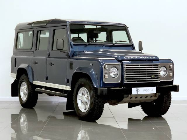 Land Rover Defender 2.4 XS Station Wagon TDCi 7 Seater Estate Diesel Metallic Blue at Phil Presswood Specialist Cars Brigg