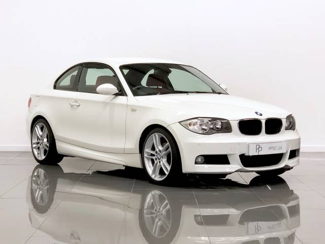 BMW 1 Series 2.0 120d M Sport 2dr Coupe Diesel Alpine White at Phil Presswood Specialist Cars Brigg