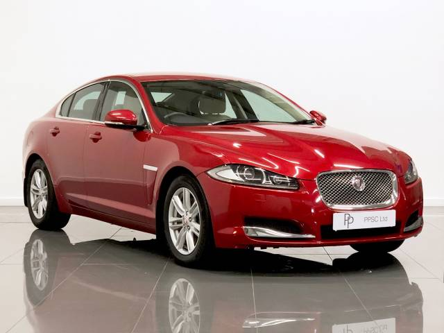 Jaguar XF 2.2d [163] Luxury 4dr Auto Saloon Diesel Red at Phil Presswood Specialist Cars Brigg