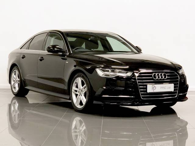 Audi A6 2.0 TDI Ultra S Line 4dr S Tronic Saloon Diesel Mythos Black at Phil Presswood Specialist Cars Brigg