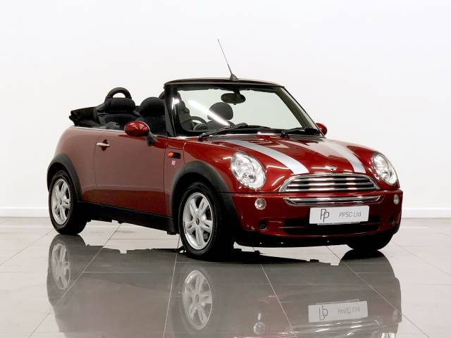 Mini Convertible 1.6 Cooper 2dr Convertible Petrol Metallic Red at Phil Presswood Specialist Cars Brigg
