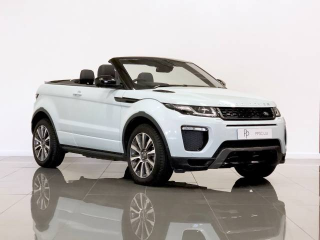 Land Rover Range Rover Evoque 2.0 TD4 HSE Dynamic Lux 2dr Auto Convertible Diesel Blue at Phil Presswood Specialist Cars Brigg