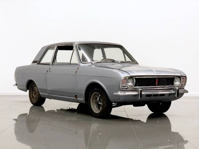Ford Cortina 1.5 1500 GT Coupe Petrol Metallic Grey at Phil Presswood Specialist Cars Brigg