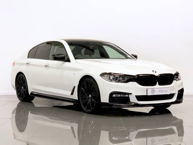 BMW 5 Series 3.0 530d xDrive M Sport 4dr Auto Saloon Diesel White at Phil Presswood Specialist Cars Brigg