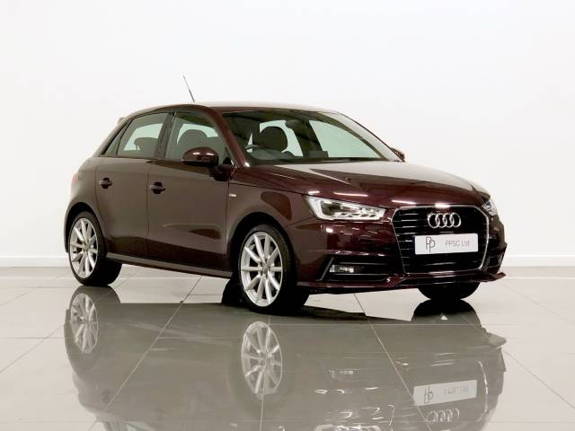 Audi A1 1.6 TDI S Line 5dr Hatchback Diesel Magenta Metallic Red at Phil Presswood Specialist Cars Brigg