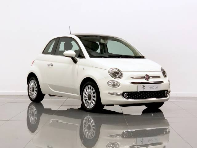 Fiat 500 1.2 Lounge 3dr Hatchback Petrol White at Phil Presswood Specialist Cars Brigg