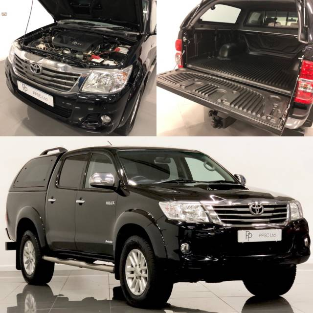 Toyota Hilux Invincible D/Cab Pick Up 3.0 D-4D 4WD 171 Pick Up Diesel Black at Phil Presswood Specialist Cars Brigg