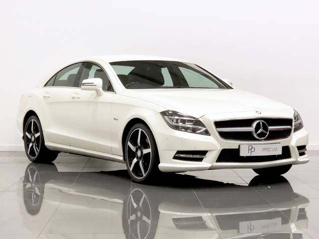 Mercedes-Benz CLS 3.0 CLS 350 CDI BlueEFFICIENCY Sport 4dr Tip Auto Coupe Diesel Metallic White at Phil Presswood Specialist Cars Brigg
