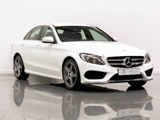 Mercedes-Benz C Class 2.1 C250 BlueTEC AMG Line 4dr Auto Saloon Diesel Polar White at Phil Presswood Specialist Cars Brigg