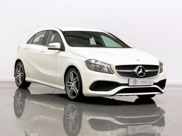 Mercedes-Benz A Class 1.5 A180d AMG Line 5dr Hatchback Diesel White at Phil Presswood Specialist Cars Brigg