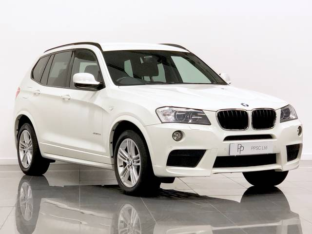 BMW X3 2.0 xDrive20d M Sport 5dr Step Auto Estate Diesel White at Phil Presswood Specialist Cars Brigg